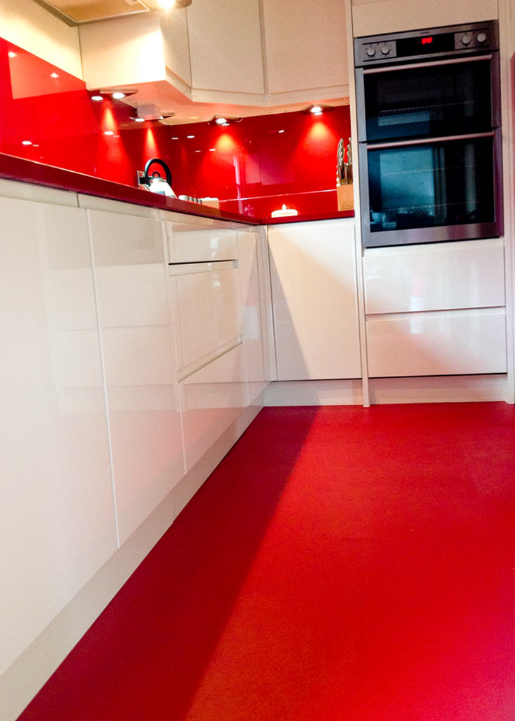 Anmarie\'s stunning kitchen adorned with Sangria Red flooring from ...