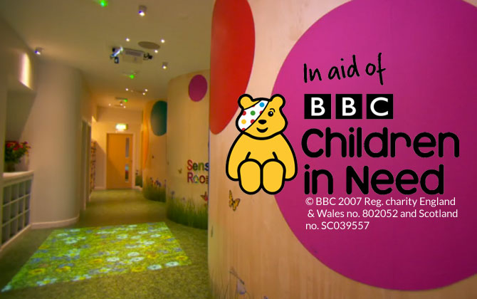 Grass effect flooring for DIY SOS Children in Need project